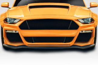 2018-2019 Ford Mustang Duraflex Grid Front Lip Under Spoiler - 1 Piece