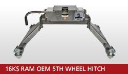 16KS Ram OEM 5th Wheel Hitch Unit With OEM Gooseneck Prep Package 2013-2018 Ram 3500