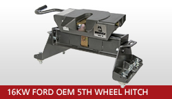 16KW Ford OEM 5th Wheel Hitch Unit With OEM Gooseneck Prep Package 2008-2016 Ford F-250 Super Duty