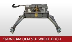 16KW Ram OEM 5th Wheel Hitch Unit With OEM Gooseneck Prep Package 2013-2018 Ram 3500