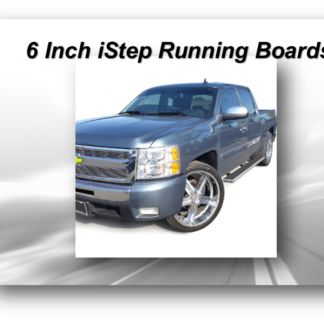 iStep 6 Inch Running Boards - Hairline Brush - Black