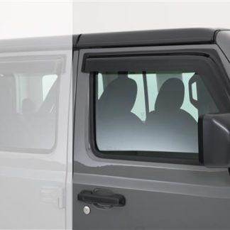 GT Styling Rainguard; Smoke; Set Of 2  | 2018 Jeep Wrangler JL | 2019 Jeep Wrangler