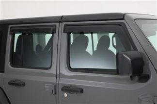 GT Styling Rainguard; Smoke; Set Of 4  | 2018 Jeep Wrangler JL | 2019 Jeep Wrangler