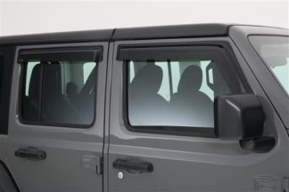 GT Styling Rainguard; Carbon Fiber Look; Set Of 4  | 2018 Jeep Wrangler JL | 2019 Jeep Wrangler