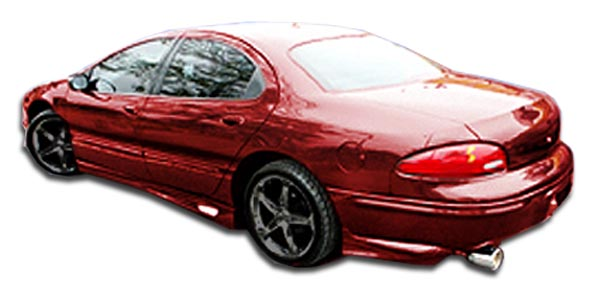 1998-2004 Chrysler Concorde Duraflex VIP Rear Add On Bumper Extensions - 2 Piece (Overstock)