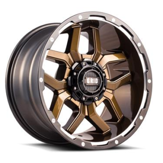 Grid Off-Road Wheel Model GD07 Bronze Black