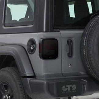 GT Styling Tailgate Cover; Smoke; Set Of 2  | 2018 Jeep Wrangler JL | 2019 Jeep Wrangler