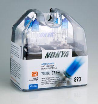 Nokya Headlight Bulb; Pro Series; 893 Halogen; Arctic White; 7000K; Set Of 2