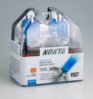 Nokya Headlight Bulb; Pro Series; 9007 (HB5) Halogen; 65/ 55 Watt; Arctic White; 7000K; Set Of 2