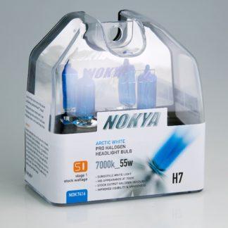 Nokya Headlight Bulb; Pro Series; H7 Halogen; Arctic White; 55 Watt 7000K; Set Of 2