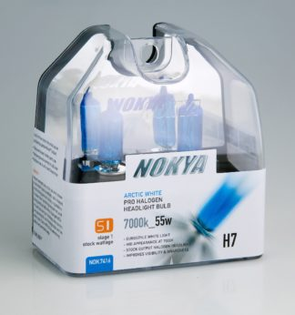 Nokya Headlight Bulb; Pro Series; H7 Halogen; Arctic White; 55 Watt 7000K; Set Of 2