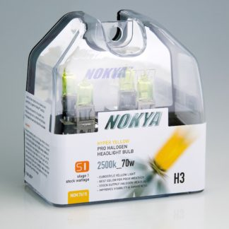 Nokya Headlight Bulb; Pro Series; H3 Halogen; Hyper Yellow; 2500K; Set Of 2