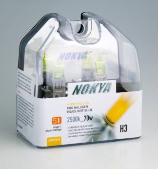 Nokya Headlight Bulb; Pro Series; H3 Halogen; Hyper Yellow; 2500K; Set Of 2