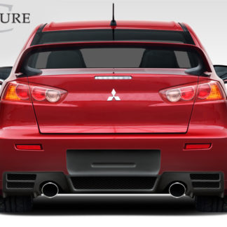 2008-2015 Mitsubishi Lancer Evolution 10 Couture Urethane C-Speed Rear Bumper Cover - 1 Piece (Overstock)