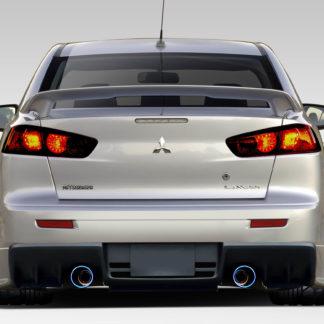 2008-2017 Mitsubishi Lancer Duraflex Evo X V3 Rear Bumper Cover - 1 Piece