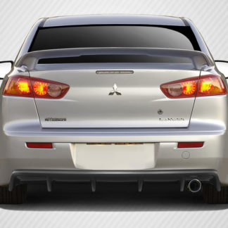 2008-2017 Mitsubishi Lancer 4DR Carbon Creations M Power Rear Diffuser - 1 Piece