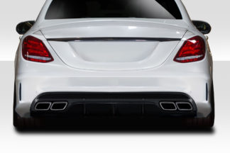 2015-2019 Mercedes C Class W205 Duraflex C63 Look Rear Diffuser - 1 Piece ( For AMG Bumper only)
