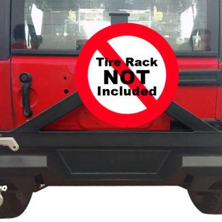 Jeep Rear Bumper Carbon Steel Black; 2007-2018 Jeep Wrangler JK ( W/O Hitch Receiver)