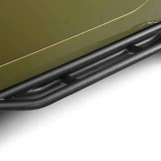 Jeep Side Armor Carbon Steel Black; 1987-2006 Jeep Wrangler TJ/YJ