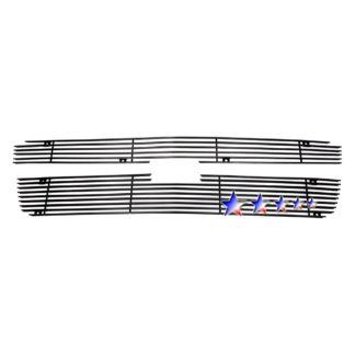 Black - Horizontal Billet Grille - 2001-2006 Chevy Avalanche With Body Cladding