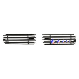 Black - Horizontal Billet Grille - 1999-2002 Chevy Silverado 1500 /2000-2006 Chevy Suburban Only For Z71 And With Round Fog Lamps/2000-2006 Chevy Tahoe Only For Z71 And With Round Fog Lamps