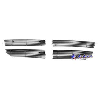 Black - Horizontal Billet Grille - 2007-2010 Dodge Avenger SXT