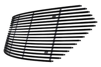 Black - Horizontal Billet Grille - 2013-2019 Ford Taurus SHO Logo Cover