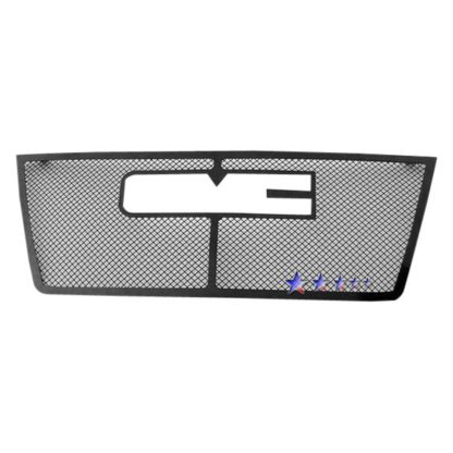 Black - 1.8mm Wire Mesh Grille - 2010-2015 GMC Terrain 1 PC With Logo Show