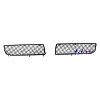 Black - 1.8mm Wire Mesh Grille - 2005-2010 Chrysler 300 (Fog Lights Full Covered)