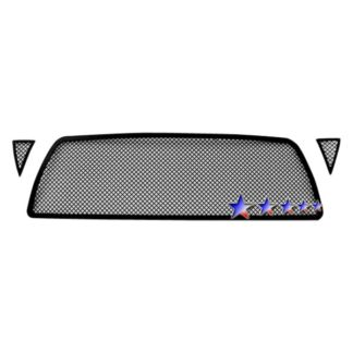 Black - 1.8mm Wire Mesh Grille - 2005-2010 Toyota Tacoma 1 PC Center & 2 PCS For Side Holes