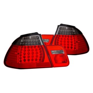 CG® 03-B302TLED4DRS-4 - CG BMW 3 Series E46 02-04 4 Dr LED Tail Light Red/Smoke 4 Pc Set 2002 - 2005 BMW 3 Series