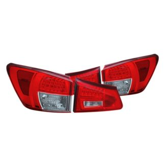 CG® 03-LIS06TLED - Chrome/Red LED Tail Lights Lexus IS250/350 2006 - 2008 Lexus IS250