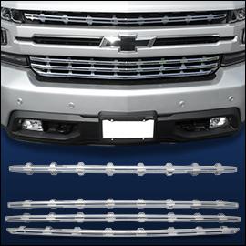 CCI Grille Overlay Chrome ABS; Chevy Silverado  2019-2020