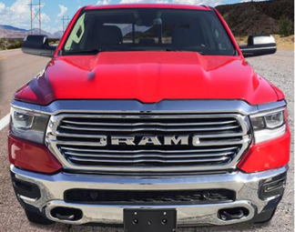 CCI Grille Overlay Chrome ABS; Dodge Ram 2019