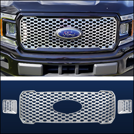 CCI Grille Overlay Chrome ABS; Ford F150 2018-2020