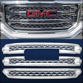 CCI Grille Overlay Chrome ABS; GMC Sierra 1500 2016-2018