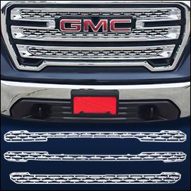 CCI Grille Overlay Chrome ABS; GMC Sierra 1500 2019-2020