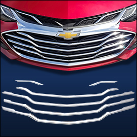 CCI Grille Overlay Chrome ABS; Chevy Cruze  2019-2020