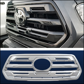 CCI Grille Overlay Black ABS; Toyota Tacoma  2018-2020