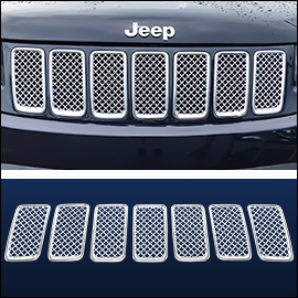 CCI Grille Overlay Chrome ABS; Jeep Grand Cherokee  2014-2016