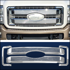CCI Grille Overlay Chrome ABS; Ford Superduty 2011-2016