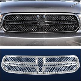 CCI Grille Overlay Black ABS; Dodge Durango  2014-2020