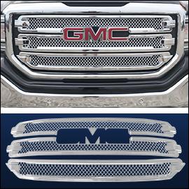 CCI Grille Overlay Chrome ABS; GMC Sierra  2016-2018