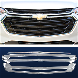 CCI Grille Overlay Black ABS; Chevy Traverse 2018-2020