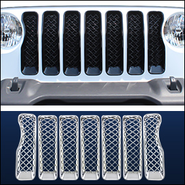 CCI Grille Overlay Chrome ABS; Jeep Gladiator 2018-2020