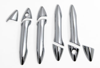 ABS Chrome Door Handle Cover 4-Door 1-or-2-Keyhole 10-Pc (will not fit Elantra Touring) 2011 - 2016 Hyundai Elantra