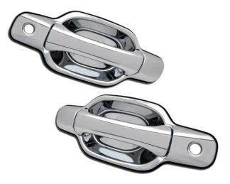 ABS Chrome Replacement Door Handle 2-Door 2-Keyhole 2004 - 2012 Chevy Colorado