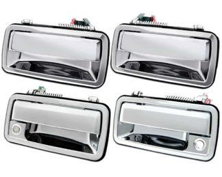 ABS Chrome Replacement Door Handle 4-Door 2-Keyhole 1995 - 2005 GMC Sonoma