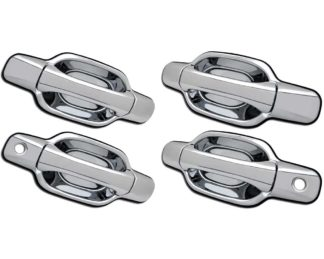 ABS Chrome Replacement Door Handle 4-Door 2-Keyhole 2006 - 2011 Isuzu I-Series-Pickup