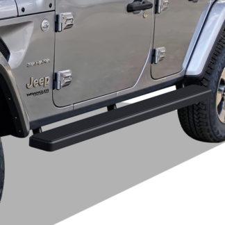 iStep 5 Inch Running Boards 2018-2020 Jeep Wrangler (Black)